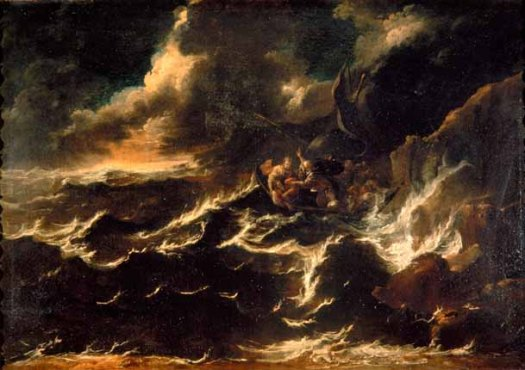 CRISTO E GLI APOSTOLI DURANTE LA TEMPESTA