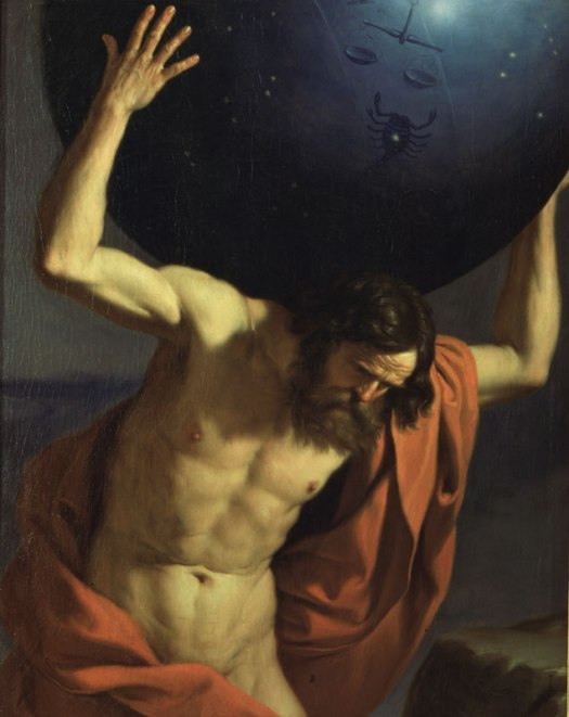 """""""Atlante"""", di Giovanni Francesco Barbieri, detto Guercino"""